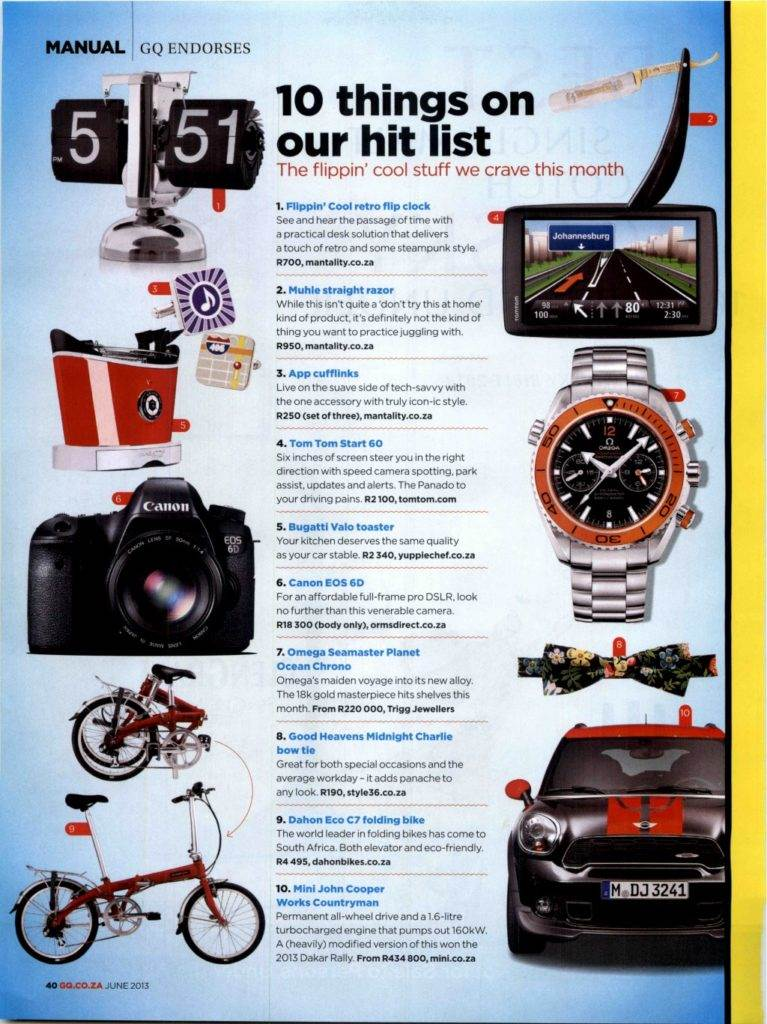 DAHON - GQ pg40 - Jun 2013